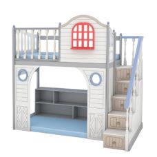 """Кровать высокая """"Fantasy bay"""" с модулем"""