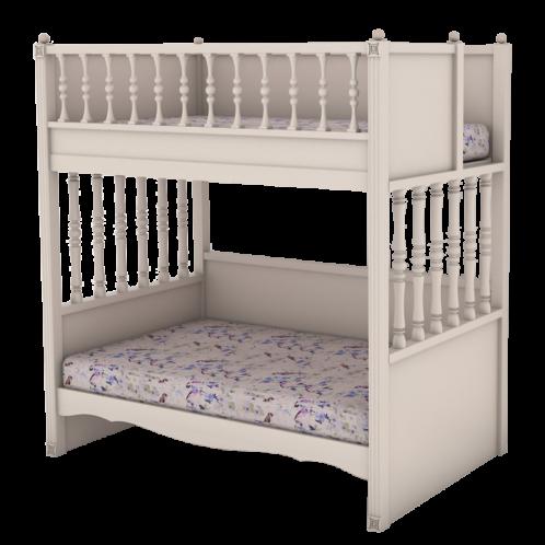 """Кровать высокая 2 спальных места """"Butterfly"""""""